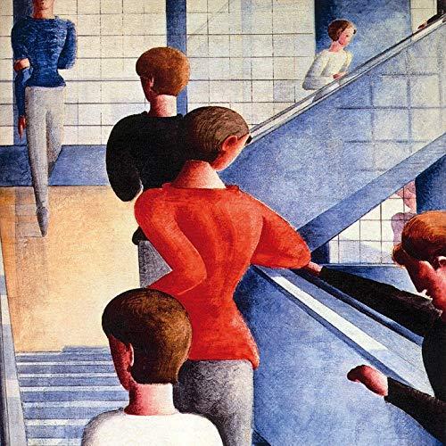 1art1 117083 Oskar Schlemmer - Bauhaustreppe, 1932 Poster Kunstdruck 100 x 100 cm