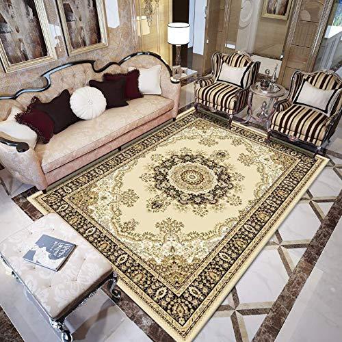 Wohnzimmercouch Tisch Teppich Retro-Muster Stil Teppich Traditionellen Blumenteppich Schlafzimmer Bett Garderobe Küche Speisesaal Teppich Baby Krabbeln Matcan Be Maschine Gewaschen,01,120×180Cm -