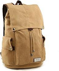 Retro-Segeltuch Rucksack Vintage-Rucksack Schultasche Reiserucksack Laptoprucksack Camping-Rucksack Unisex-Rucksack Lässige Daypacks mit Gepolsterte Tasche für Laptop