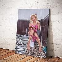 MINRAN DECOR A Druck Poster Kunstdruck – Toilettenmalerei CP139 – Modern Art Canvas Print - Canvas Print Stretched on a Frame als Moderne Wanddekoration, A, 30 * 40CM
