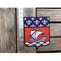 DECO-IDEES Aufkleber f/ür Nummernschild Wappen Paris R/égion Insel de France 75