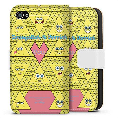 Apple iPhone X Silikon Hülle Case Schutzhülle Spongebob Merchandise Fanartikel Patrick und Spongebob Sideflip Tasche weiß