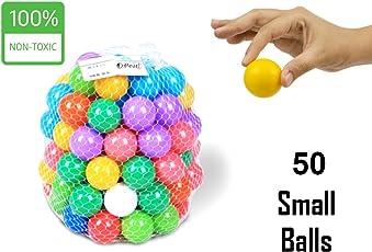 EEVOVEE Tiny Small Plastic Colour Balls,Small Size (Multicolour) - Set of 50