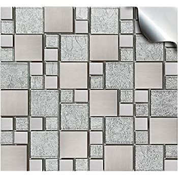 Clever Tiles Stickers Blue Black Squares 30x30cm Amazon