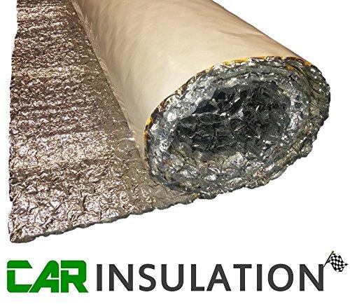 Preisvergleich Produktbild Aluminium-Thermo-Folie für Wohnwagen,  isolierend,  selbstklebend,  Doppelfolie,  hitzeabweisend,  7, 2 m,  6 mm