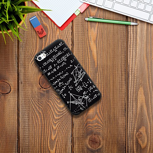 iPhone SE iPhone 5 5S Hülle, WoowCase® [Hybrid] Handyhülle PC + Silikon für [ iPhone SE iPhone 5 5S ] Husky-Hunde Sammlung Tier Designs Handytasche Handy Cover Case Schutzhülle - Transparent Housse Gel iPhone SE iPhone 5 5S Schwarze D0077