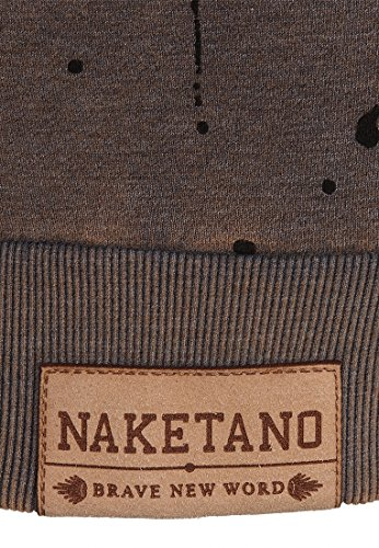 Naketano Male Sweatshirt Ausgewogener Drogenkonsum Heritage Indigo Blue Melange