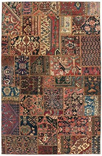 Patchwork-orientalische Teppiche (Patchwork Malayer Teppich Orientalischer Teppich 300x196 cm Handgeknüpft Modern)