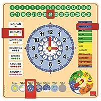 Jumbo-D51309-Kalender-Uhr Jumbo D51309 Kalenderuhr in Großformat, bunt -