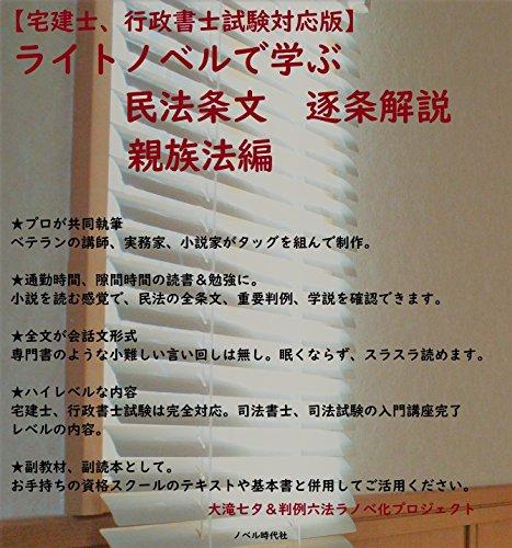 Civil Code Relatives light novel de minpo (national qualifications novels) (Japanese Edition)