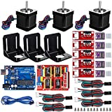 Impresora 3D profesional Kit CNC para Arduino GRBL CNC Shield + UNO R3 Board + RAMPS 1.4 Interruptor mecánico Tope + DRV8825 Controlador de motor paso a paso + Nema 17 Motor paso a paso