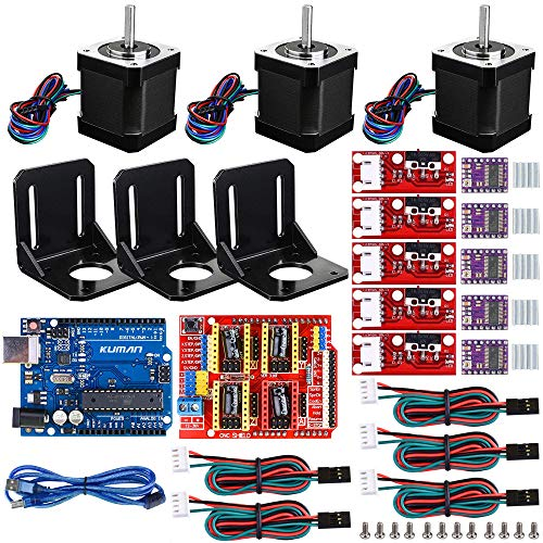 Kit CNC per stampante 3D professionale per Arduino GRBL CNC Shield + scheda UNO R3 + RAMPE 1.4 Interruttore meccanico Endstop + DRV8825 Driver motore passo-passo + Nema 17 Motore passo-passo