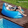 Aufblasbares Sofa by tryEataliano | Aufblasbare Liege Perfekt, um sich auf einem Ausflug in die Berge, auf dem Campingplatz, am Strand, im Schwimmbad, auf einem Festival, im Freien und anderswo bequem auszuruhen | Aufblasbarer Sitzsack ideal als Sofa oder
