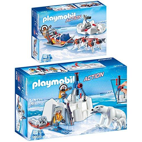 Preisvergleich Produktbild PLAYMOBIL® Action 2er Set 9056 9057 Polar Ranger mit Eisbären + Hundeschlitten
