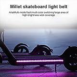 Wovatech Luces de Tira LED para Scooter eléctrico - Luz Decorativa de Seguridad Plegable Impermeable para Xiaomi M365 - Lámpa