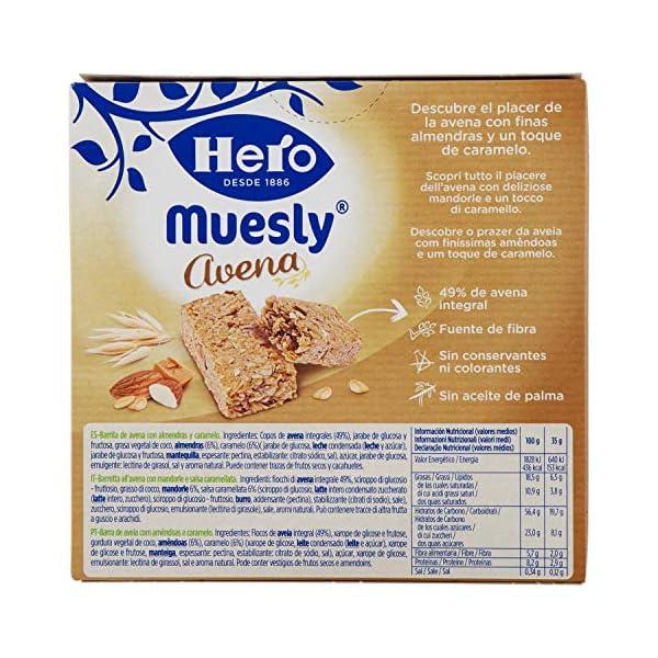 Hero Barrette ai Cereali e Avena con Mandorle e Caramello - 140 g 3 spesavip