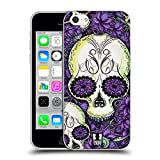 Head Case Designs Violett Blühende Totenköpfe Soft Gel Hülle für iPhone 5c