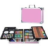 145 Lápices de Colores Profesionales, incluida la Acuarela, Estuche de Lápices de Dibujo Profesional Plegable - Ideal para Li