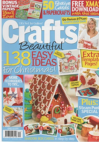138 EASY IDEAS FOR CHRISTMAS ,,,CRAFTS BEAUTIFUL ,MAGAZINE ISSUE 234 NOVEMBER 2011