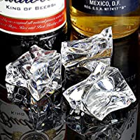 bar@drinkstuff Artificial Acrylic Ice Chunks 1kg Bag of 60 (Approx.) - Decorative Fake Ice Cubes for Displays
