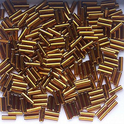 silver-lined-dark-topaz-glass-bugle-beads-100g-6mm-bu6-054