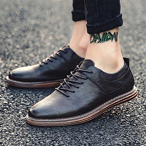 gli uomini di moda casual scarpe, moda casual scarpe, gli uomini britannici e scarpe di cuoio black
