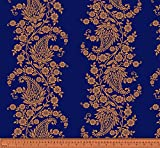 Soimoi Blumen Paisley Printed 2 - Way Stretch Samt