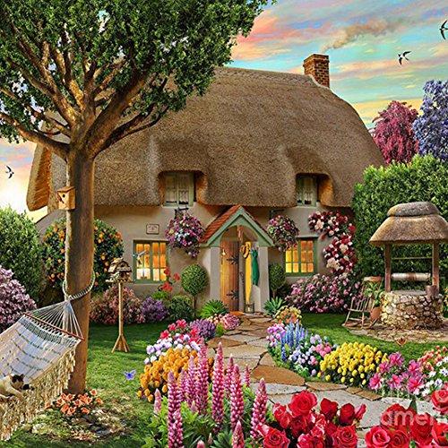 prettygood7 Gartenhaus 5D Diamant DIY Malerei Bastelset Home Decor