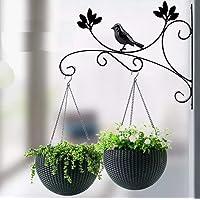 Neumark Iron Hanging Scroll Bracket Hanger Hook for Hanging Garden Flower Planter Pot,Lantern, Bird Feeder, Flower…