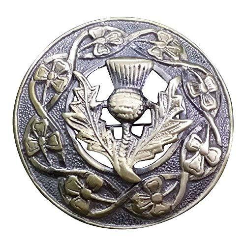 Antike Brosche für Herren, für schottischen Kilt