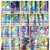 AUMIDY Pokemon Cartes, Jeux De Cartes 100 Pcs Poke-mon Cartes Style, 95GX + 5 Mega, Carte de Jeux Poké-mon Cartes, GX EX Trad