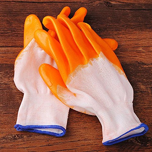 Tutoy A Pair Rubber Gardening Glove Wearproof Work Protection Gloves