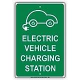 TammieLove - Segnale di avvertimento per veicoli elettrici, stazione di ricarica con punto riservato, 20 x 30 cm