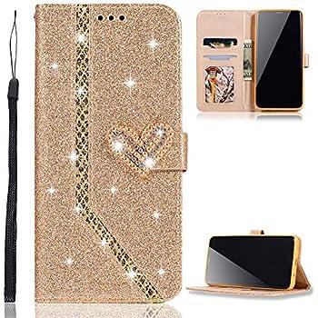 iPhone 6S H/ülle Leder Gold Glitzer Flip D/ünn Tasche mit Diamant Schnalle Magnet Kartenfach Brieftasche M/ädchen H/ülle Silikon Schwarz Innere Klappbar ZCXG Kompatibel mit Handyh/ülle iPhone 6