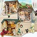 cinnamou 3D Puzzle - kreatives Geschenk Spielzeug - DIY Holzhaus mit Möbel - Handwerk Miniatur Box von cinnamou bei Du und dein Garten