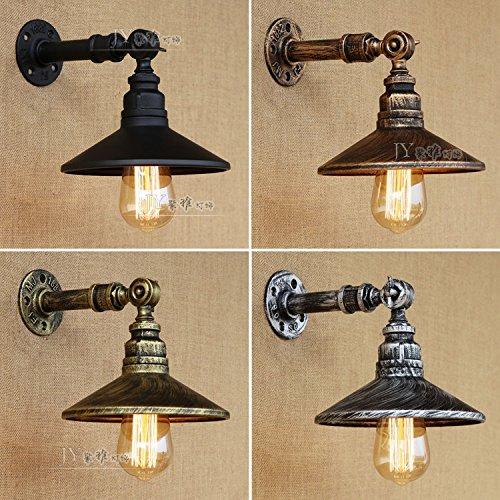 YU-K Der Leiter der bed Wandleuchte minimalistischen Rohre im Wohnzimmer an der Wand Lampe mit LED-Lichtquelle, Schwarz matt