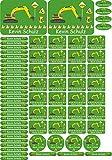 INDIGOS UG Namensaufkleber/Sticker - A4-Bogen - 004 - Bagger - 69 Sticker für Kinder, Schule und Kindergarten - Stifte, Federmappe, Lineale - auch für Erwachsene - individueller Aufdruck