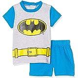Batman- Ensemble Short et T-Shirt bébé Gris/Bleu de 6 à 24mois