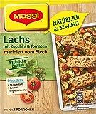 Maggi Natürlich und Bewusst Lachs mit Zucchini und Tomaten mariniert vom Blech, 26 g Beutel, für 4 Portionen