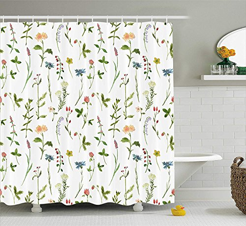 ZSZT Fabric Shower Curtain 3D Digital Printing Retro Vintage Wooden