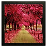 Best Pictures For Living Room Decors - Beautiful Framed Floral Autumn Season Wall Paintings Review