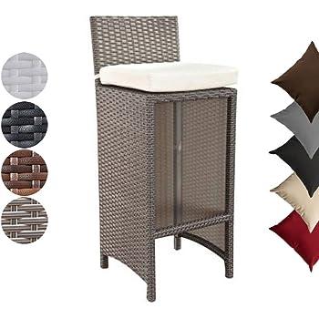 rattan barhocker barbados f r die gastronomie schwarz ca hxbxt 76x34x34 cm pulverbeschichtetes. Black Bedroom Furniture Sets. Home Design Ideas