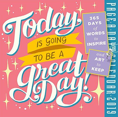 Heute Wird Ein großer Tag. Farbe page-a-day Kalender 2019[15,2x 15,2cm Zoll] - Große Zeitgenössische Wall