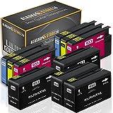 10x Compatible Cartouche d'encre HP 932 XL 933 XL Compatible Grande Capacité pour HP Officejet 7510 hp officejet 6600 All-in-One hp officejet 6700 Premium 7110 wide format 7612 WF 7610 WF 6100 e-Printer WF 7600 Serie Mis à jour avec de nouvelles Puce