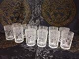 Medusa Mäander Gläser Set 12x Whiskeygläser Kristall Glastassen Saft Wasser H20 (F3)
