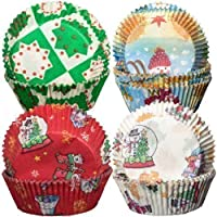 240 Christmas Themed Cupcake Cases (4 Designs X 60) by Yolli