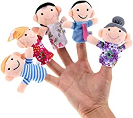 Chocozone Family Finger Puppet, Multi Color (Pack of 6) Mumma Papa Grandpa Grandma Brother Sister