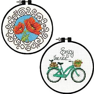 2Kreuzstich Kits Bundle: Mohn und Enjoy the ride
