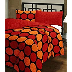 Renown Adorable Polka Design Reversible Double Bed Quilt / AC Blanket / Dohar ( Pack Of 1 Pc )
