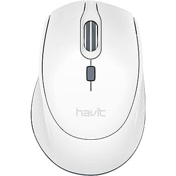 HAVIT Ratón Inalámbrico Mouse 2.4G Raton Inalámbrico Portatil 2000DPI con receptor USB, Raton para